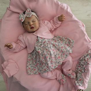 Saída de Maternidade Carinho Baby Penélope Rosa Floral
