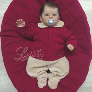 Saída de Maternidade Encanto Ana Lúcia Vermelho